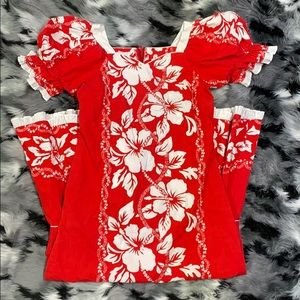 Vintage MuuMuu Hawaii Tropical Flower Island Dress